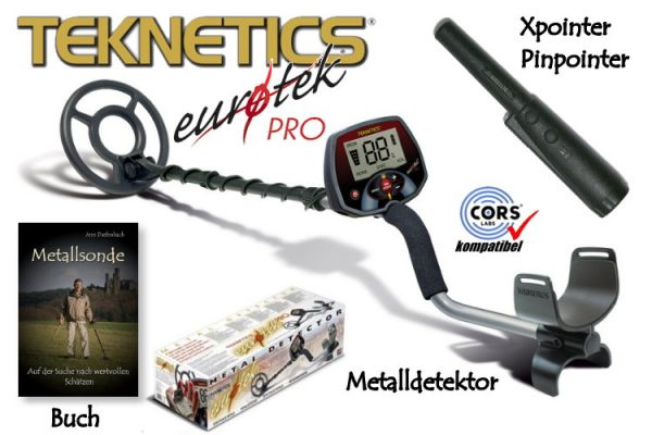 Metalldetektor Eurotek PRO mit Xpointer